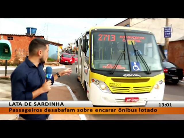 JL - Passageiros desabafam sobre encarar ônibus lotado