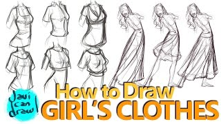 HOW I TAUGHT MYSELF TO DRAW FEMALE CLOTHES