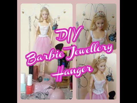 DIY Barbie Jewellery Hanger!! Hot to turn your barbie doll into a jewellery hanger