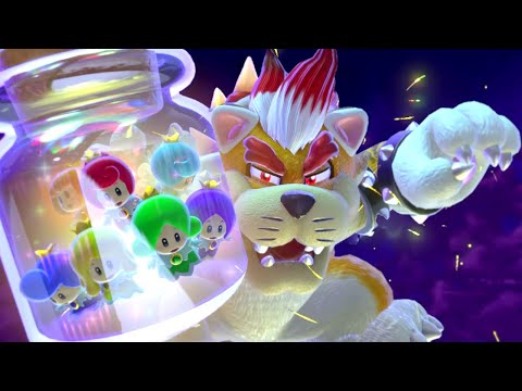 Super Mario 3D World 100% Final Boss and Ending - World 8-Castle - The Great Tower of Bowser Land