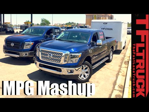 2016 nissan titan xd gas vs diesel towing vs empty highway mpg review youtube. Black Bedroom Furniture Sets. Home Design Ideas