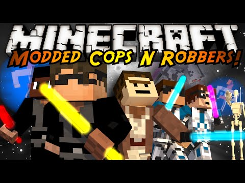 Minecraft Modded Mini-Game : COPS N ROBBERS! STAR WARS!