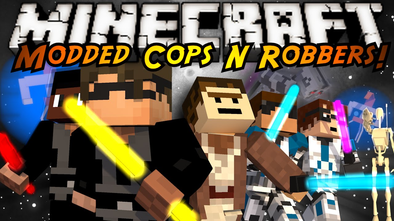Minecraft Modded Mini-Game : COPS N ROBBERS! STAR WARS