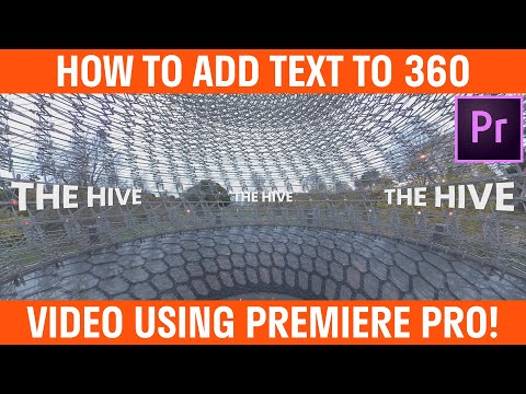 How To Add Text To 360 Video Premiere Pro