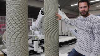 Designing HUGE Concrete Forms | 3D Printing Robotic Arm on a Track in Action at Vertico