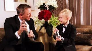 Forming a bond: Calgary boy meets Daniel Craig