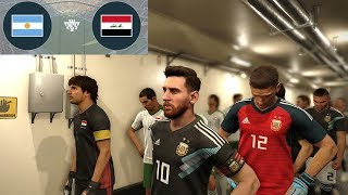 Iraq vs Argentina (Messi Free kick Goal) 11 October 2018 Gameplay