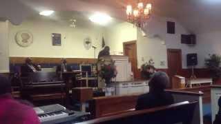 Supt. Gatlin preaching on Good News from Afar