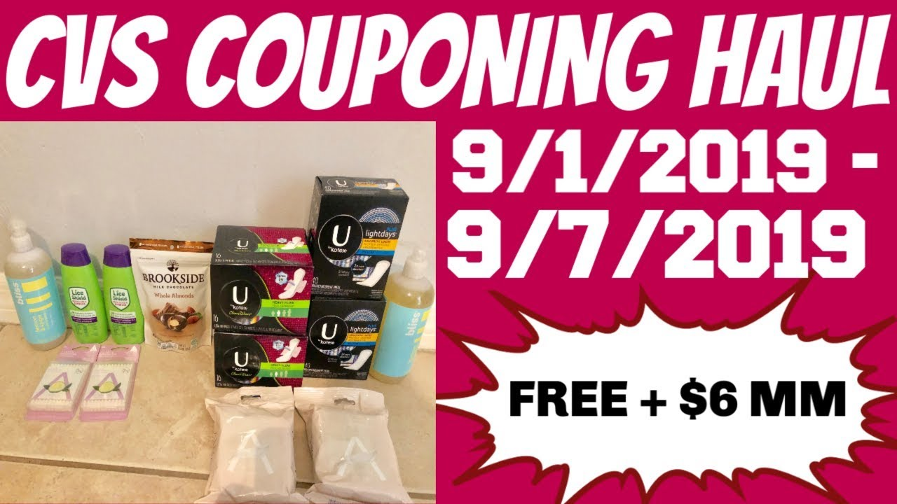 CVS COUPONING HAUL 9/1/2019 - 9/7/2019   FREE + $6 MM