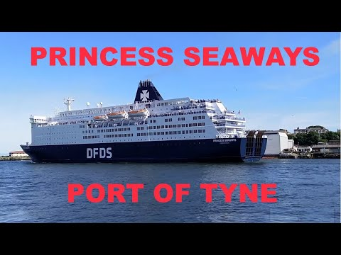 DFDS Princess Seaways Leaving Port Of Tyne (Newcastle) For IJmuiden  14th July 2019