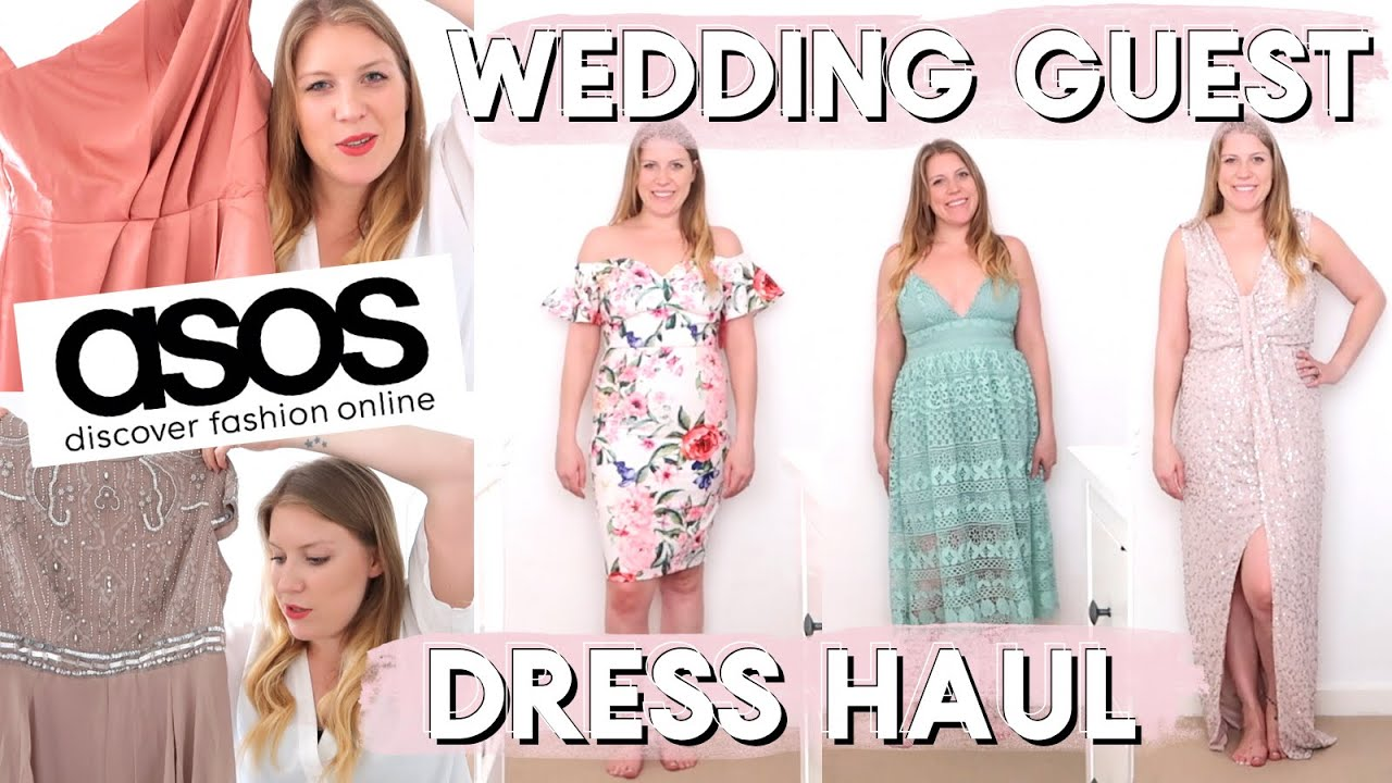 Asos Wedding Guest Dress Haul Help Me Choose One Youtube