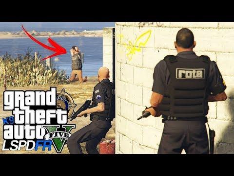 GTA V : MOD POLICIA : A MINHA EQUIPE ESTRAGOU O RESGATE! PATRULHA COM A ROTA! : EP. 203