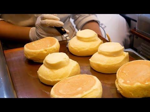 Fresh Fruit Souffle Pancake in Korea