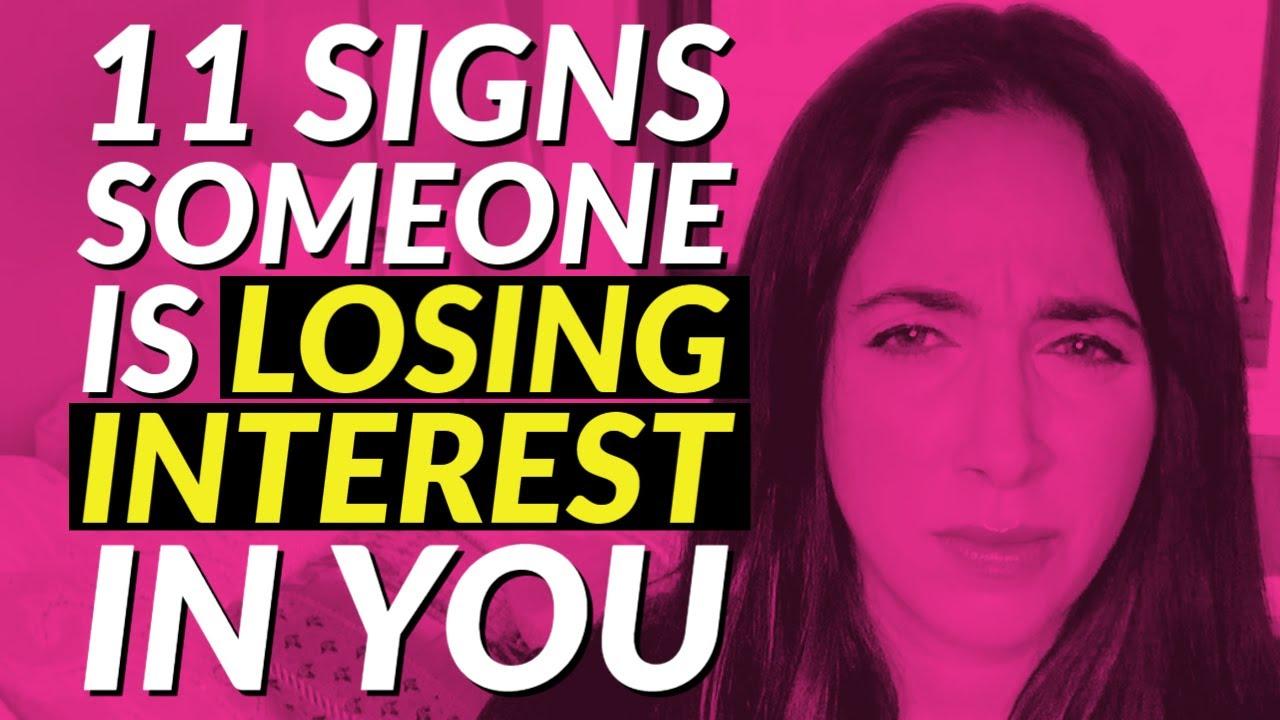 Woman losing interest