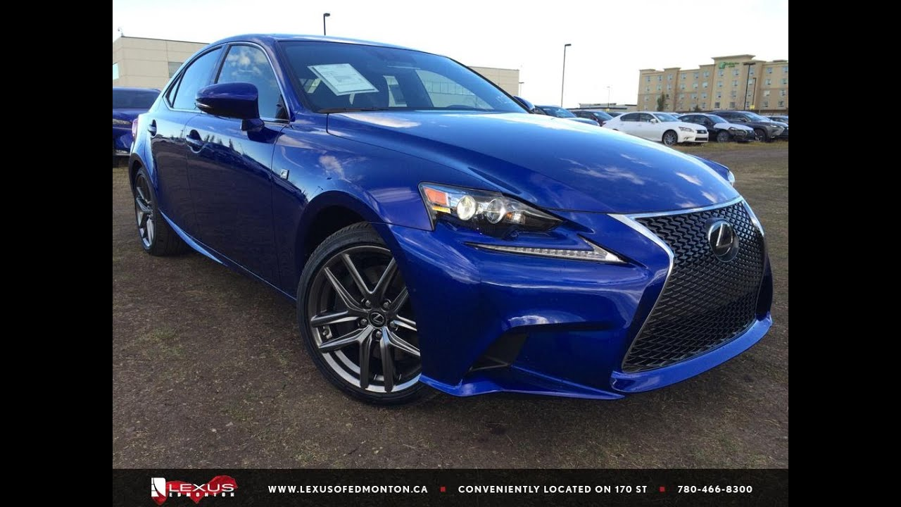 new ultrasonic blue 2016 lexus is 350 awd f sport series 3 review youtube. Black Bedroom Furniture Sets. Home Design Ideas