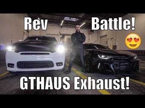 *INSANE* Rev Battle! Durango SRT GTHAUS LOUD Exhaust! Launch & Dyno!
