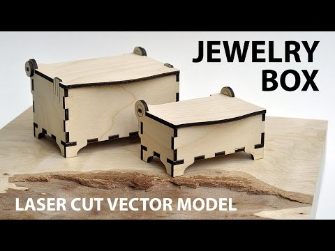 Jewelry box vector model for laser cutter