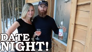 SHE Eats My MYSTERY MEAT! Weird DATE NIGHT at the Off Grid Cabin