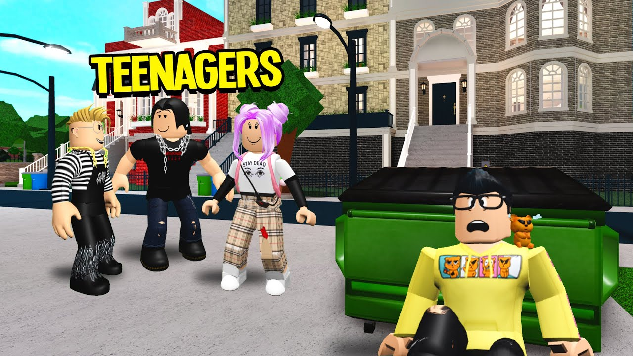 Sneaking Into A TEENAGER'S Neighborhood.. I Found ADULTS Trapped! (Roblox Bloxburg) thumbnail