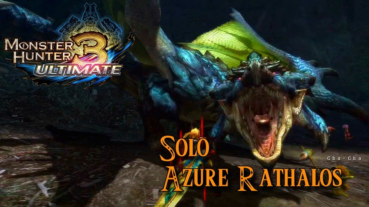 monster hunter 3 ultimate azure rathalos youtube