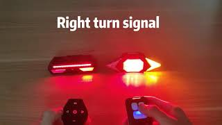 VASTFIRE vs Panapo  Bike Tail Light with Turn Signals,which is brighter?