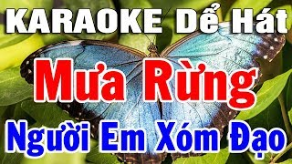 Karaoke Liên khúc Nhạc Vàng Bolero Dể Hát Nhất | Nhạc Trữ Tình Lk Mưa Rừng - Người Em Xóm Đạo