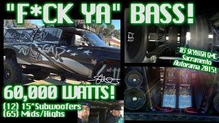 """""""Fuck Ya"""" BASS - SkyHigh Car Audio GMC - 60,000 Watts 12 15"""" SubWoofers!"""