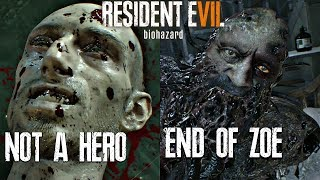 RESIDENT EVIL 7 Not A Hero & End of Zoe All Endings & Final Boss Fights (Both Endings)