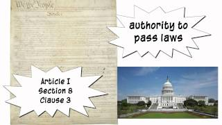 What is the Commerce Clause?