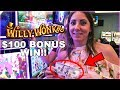 I ♥️ WILLY! Fun $100 Bonus Round Win ➡️Willy Wonka Slots | Slot Ladies