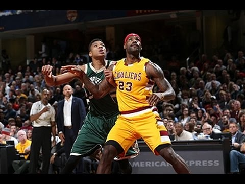 lebron-james,-giannis-antetokounmpo-duel-in-cleveland