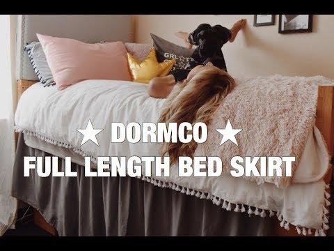 DORMCO FULL LENGTH DORM BED SKIRT   YouTube