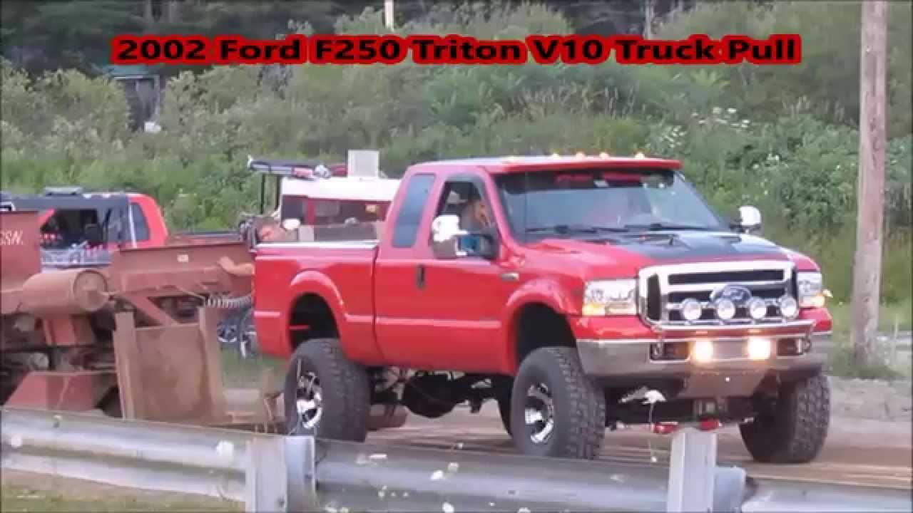 medium resolution of 2002 lifted ford f250 triton v10 truck pull