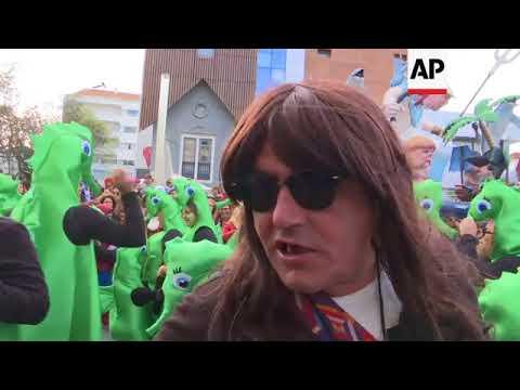 Thousands celebrate carnival outside Portuguese capital