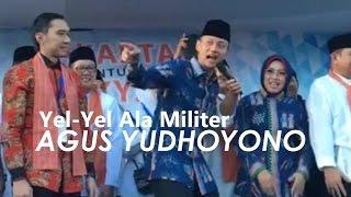agus yudhoyono pimpin yel yel ala militer jelang pilkada 2017