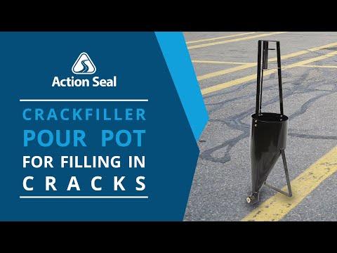 Fill Asphalt Cracks At Walking Speed With Crackfill Pour Pot