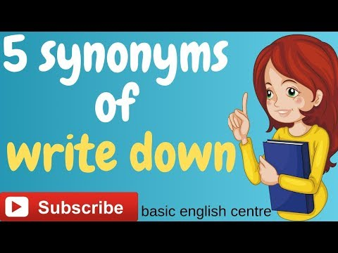 5  Synonyms  Of  'write Down'