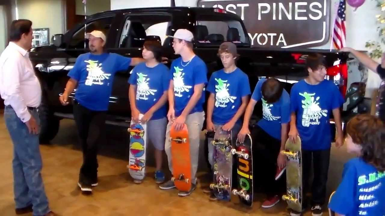 xtremexperience donates to bastrop ymca skate club at lost pines toyota youtube. Black Bedroom Furniture Sets. Home Design Ideas