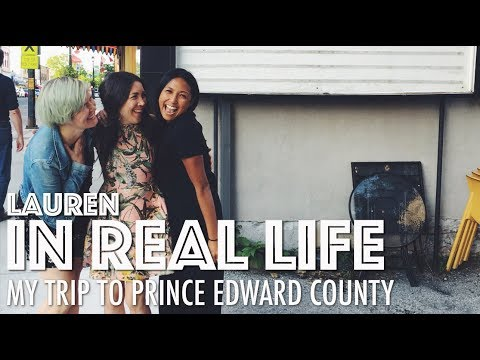 MY TRIP TO PRINCE EDWARD COUNTY + WHAT I ATE (VEGAN) | Lauren In Real Life