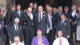 Pascal Desprez, Alain Delon, Johnny Hallyday and more attend Mireille Darc Funeral