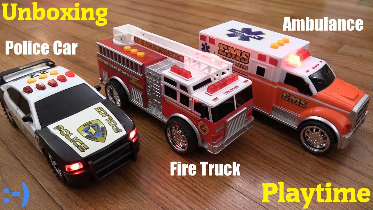 Toy Cars for Toddlers and Kids Fast Lane s Police Car Ambulance