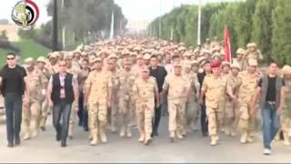 وزير الدفاع يقود الاف من افراد القوات المسلحة واختراقهم للضاحية