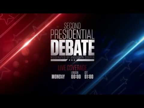 """CNN International: """"2nd Presidential Debate 2016"""" promo"""