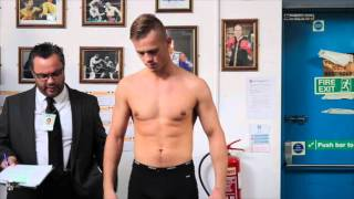 ANDREW ROBINSON v DIEVADAS SAJAUKA OFFICIAL WEIGH IN & FACE TO FACE