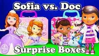 DOC MCSTUFFINS vs SOFIA THE FIRST Disney Doc McStufins & Sofia the First Surprise Boxes Video