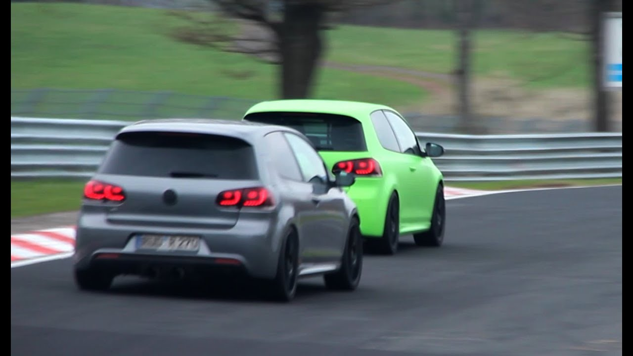 Golf Gti Hd Wallpaper 3x Vw Golf 6 R Racing On The N 252 Rburgring 1080p Hd