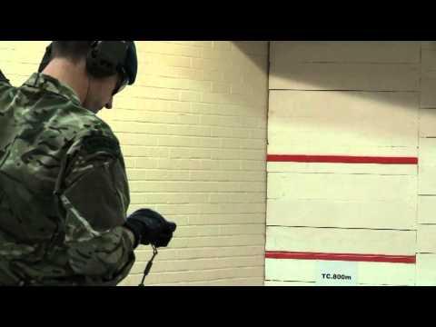 Royal Marine Firing New Glock 17