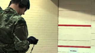 Royal Marine Firing New Glock 17