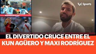 El divertido cruce entre el Kun Aguero y Maxi Rodríguez