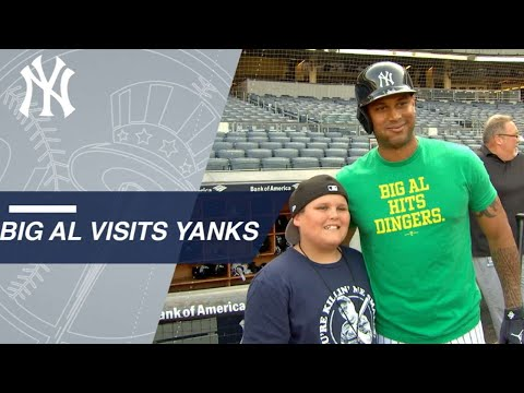 LLWS star Big Al meets Hicks, Yankees